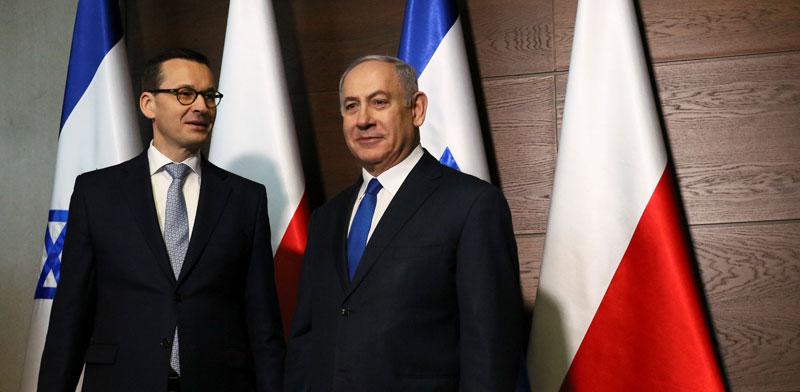 נתניהו ומקבילו הפולני מורבייצקי / צילום: רויטרס - GazetaSlawomir Kaminski
