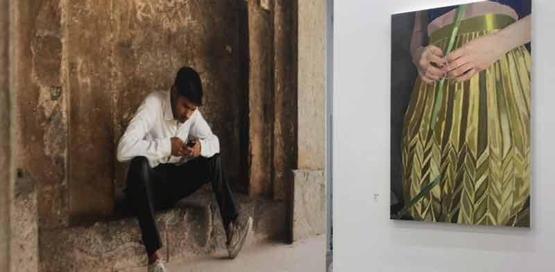 עבודה של פטמה שנאן והצבה משותפת של דוד עדיקא והילה טוני נבוק/ צילום: יחצ