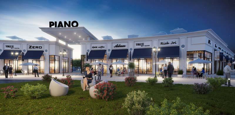 PIANO. מתחם קניות ובילוי חדשני יוקם בשכונת בעיר ימים פולג בנתניה / צילום: הדמיה: סטודיו