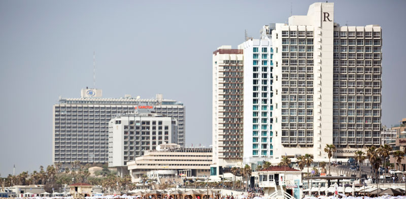 Tel Aviv seafront Photo: Reuters Corinna Kern
