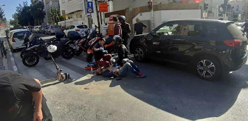 תאונת קורקינט בתל אביב / צילום: יחצ