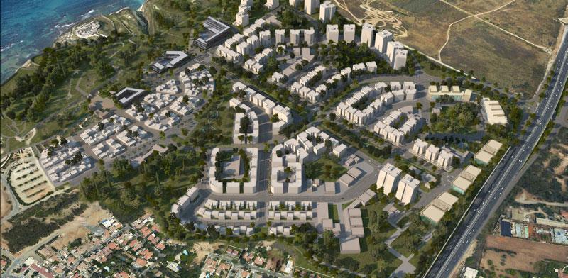 הדמיית הבנייה המתוכננת באזור אפולוניה / הדמיה: רשות מקרקעי ישראל