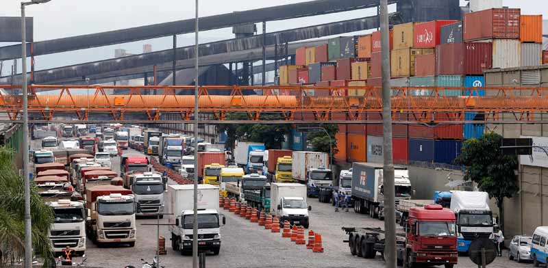 נמל סנטוס בברזיל/   צילום: רויטרס