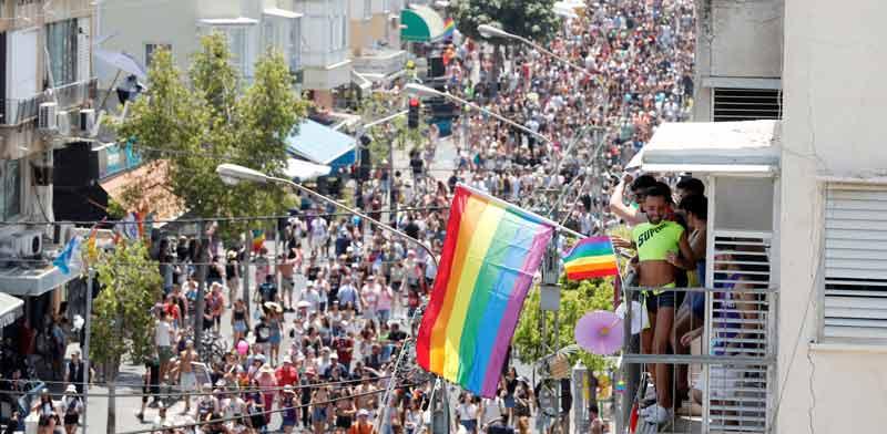 מצעד הגאווה בתל-אביב / צילום: רויטרס