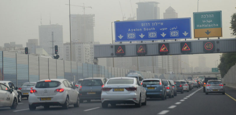 Traffic on Ayalon Highway