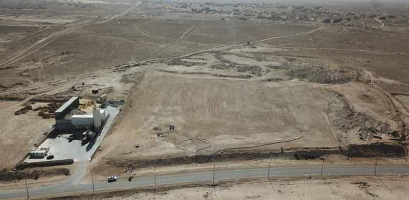 שטח המפעל העתידי של סלע הנדסה בנאות חובב / צילום: סלע הנדסה