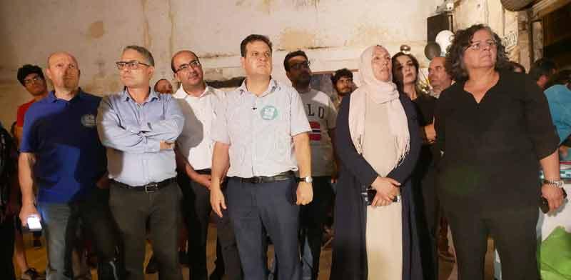 חברי הרשימה הערבית המשותפת בעת פתיחת הקמפיין / צילום: תמר מצפי