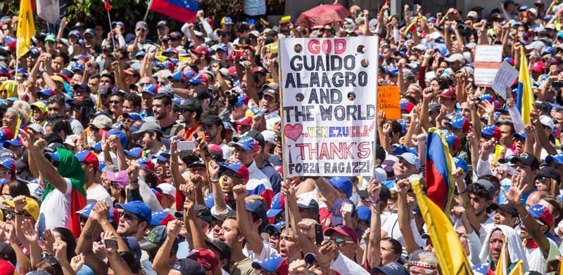 הפגנה נגד השלטון בונצואלה / צילום:  Shutterstock/ א.ס.א.פ קריאייטיב