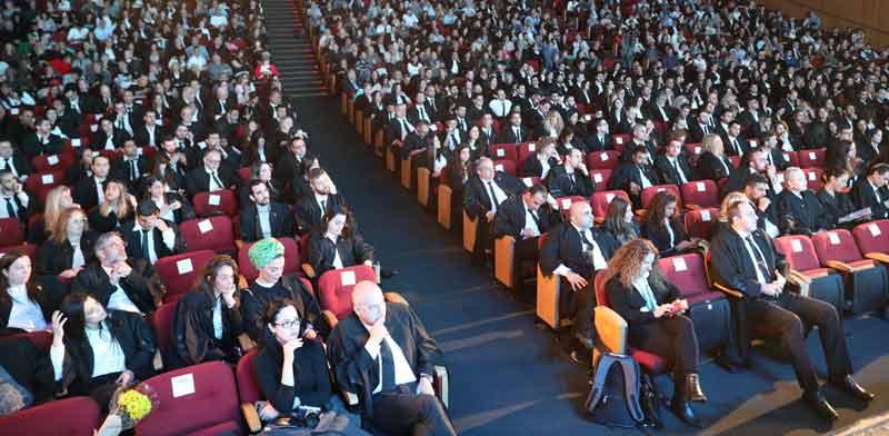 טקס הסמכת עורכי דין בשנה האחרונה / צילום: איל יצהר