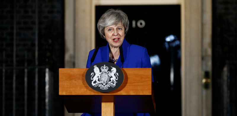 ראש ממשלת בריטניה, תרזה מיי / צילום: Henry Nicholls, רויטרס