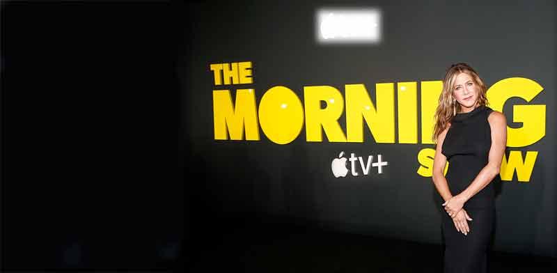"""השקת """"תוכנית הבוקר"""" של אפל TV פלוס / צילום: Gettyimages/Anadolu Agency"""