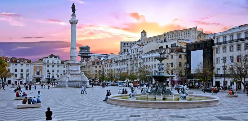 כיכר רוסיו בליסבון / צילום: Shutterstock, א.ס.א.פ קריאייטיב