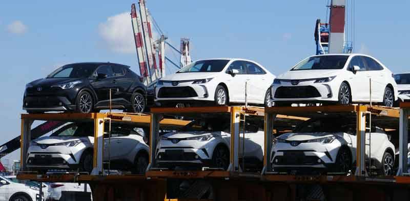 רכבים היברידיים מתוצרת טויוטה בנמל חיפה / צילום: Shutterstock, א.ס.א.פ קריאייטיב