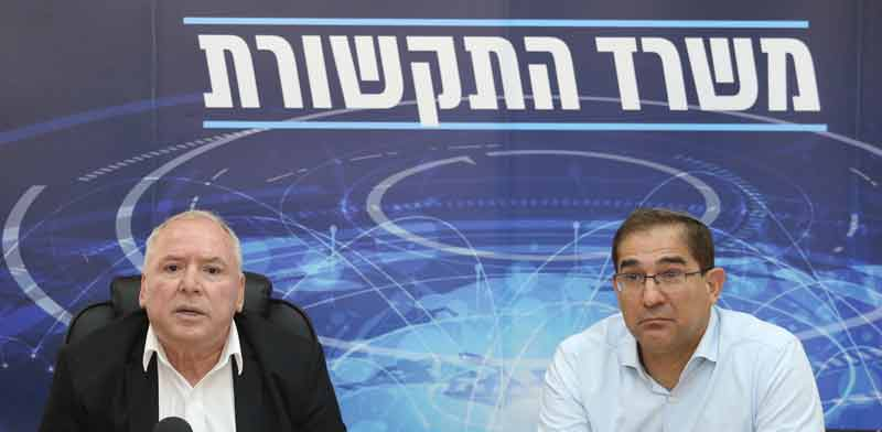 """מנכ""""ל משרד התקשורת נתי כהן והשר דוד אמסלם. / צילום: יוסי זמיר"""