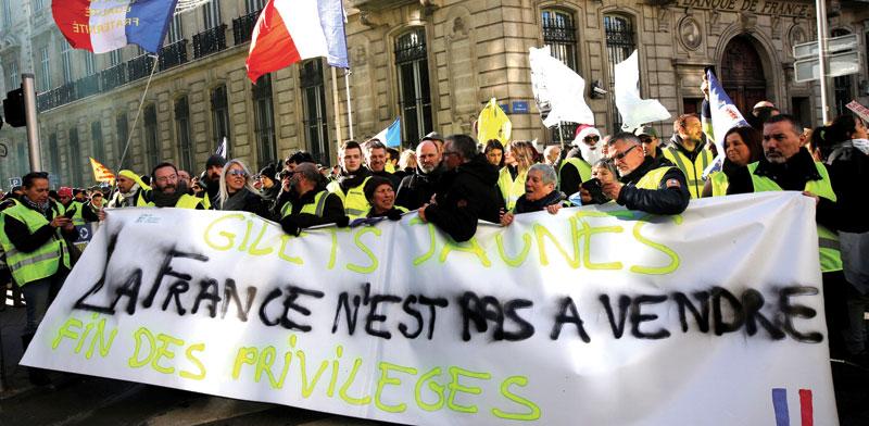 הפגנה במרסיי/  , צילום: רויטרס  Jean-Paul Pelissier