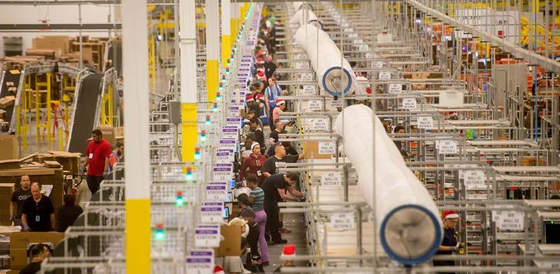 המחסן של אמזון./ צילום: רויטרס
