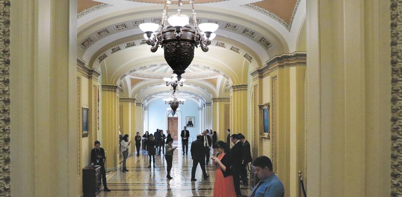 מסדרונות הממשל האמריקאי בקפיטול היל  / צילום: רויטרס, Jonathan Ernst