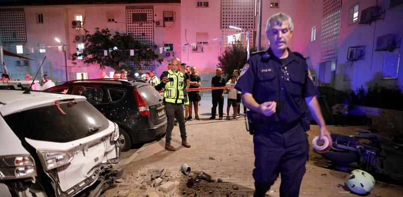 התקפת טילים בשדרות / צילום: רויטרס, Amir Cohen