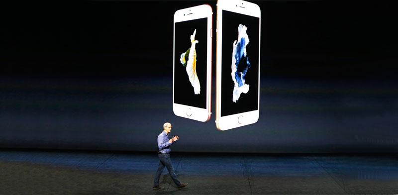 תצוגת אייפון / צילום: רויטרס