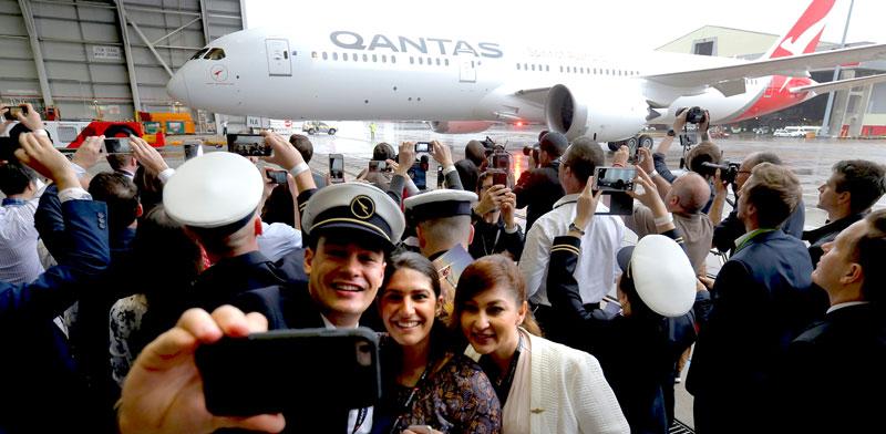 עובדי חברת התעופה קוונטס בנמל התעופה של סידני / צילום: רויטרס