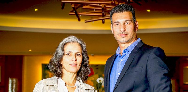 """עו""""ד אורלי בן-עמי עם עו""""ד דוד מזרחי / צילום: שלומי יוסף"""
