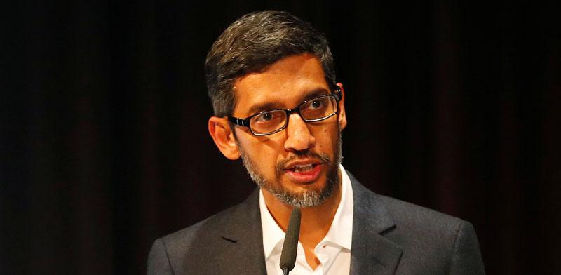 """מנכ""""ל גוגל, סונדאר פיצ'איי / צילום: רויטרס"""