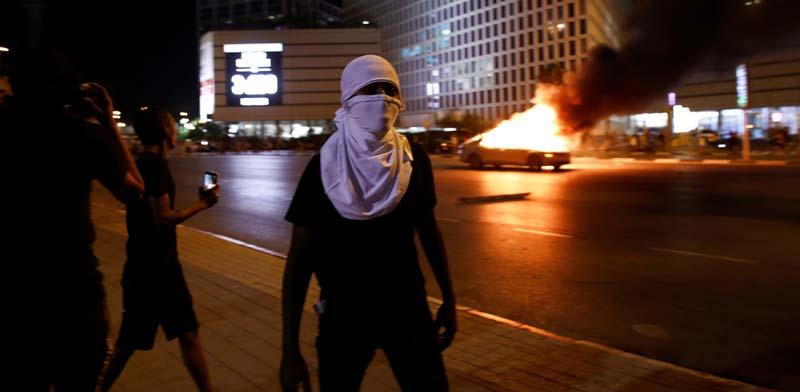הפגנת המחאה של יוצאי אתיופיה בצומת עזריאלי בתל-אביב / צילום: רויטרס