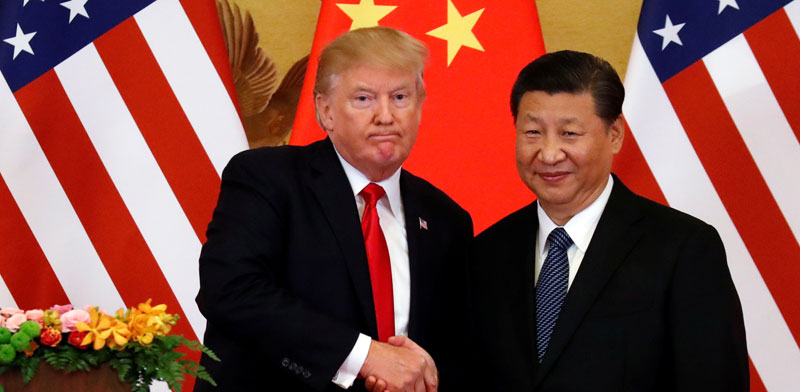 הנשיאים שי וטראמפ בנובמבר 2017/ צילום: רויטרס