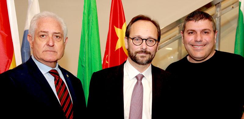 Teddy Sagi, Emanuele Giaufret and Yitzhak Eldan Photo: PR