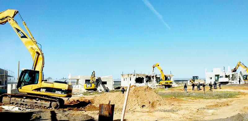 הריסת בתים בקלנסווה / צילום: היחידה הארצית לאכיפת דיני התכנון והבנייה