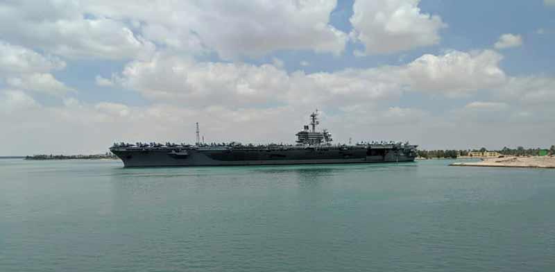 נושאת המטוסים האמריקאית לינקולן בדרכה למפרץ הפרסי / צילום: רויטרס, Bud Kinsey