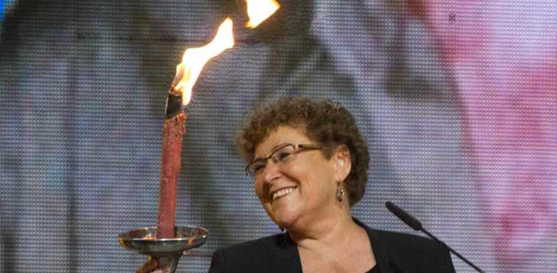 מרים פרץ בטקס הדלקת המשואות / צילום: באדיבות כאן 11