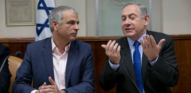 ראש הממשלה נתניהו ושר האוצר כחלון /צילום: אוליביה פיטוסי-הארץ