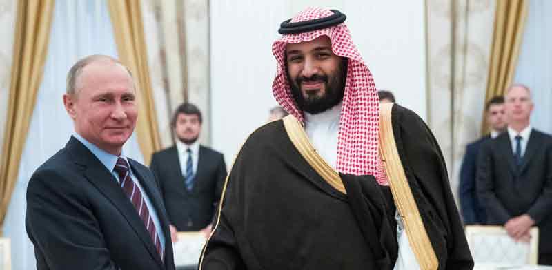 הנשיא פוטין והנסיך הסעודי מוחמד בן סלמן / צילום: רויטרס, Pavel Golovkin