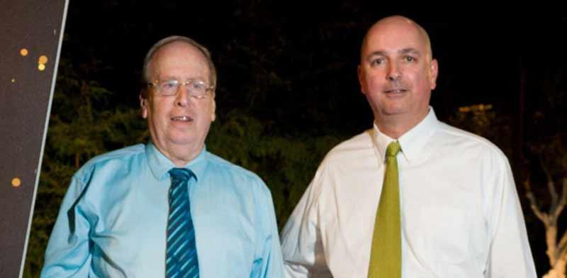 אילן רביב (מימין) וצבי סטפק / צילום: יוסי מסה