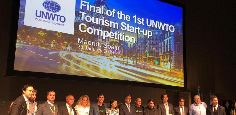 """צוות Refundit. זכו במקום הראשון בתחרות הסטארט-אפים של ארגון התיירות העולמי UNWTO / צילום: יח""""צ"""