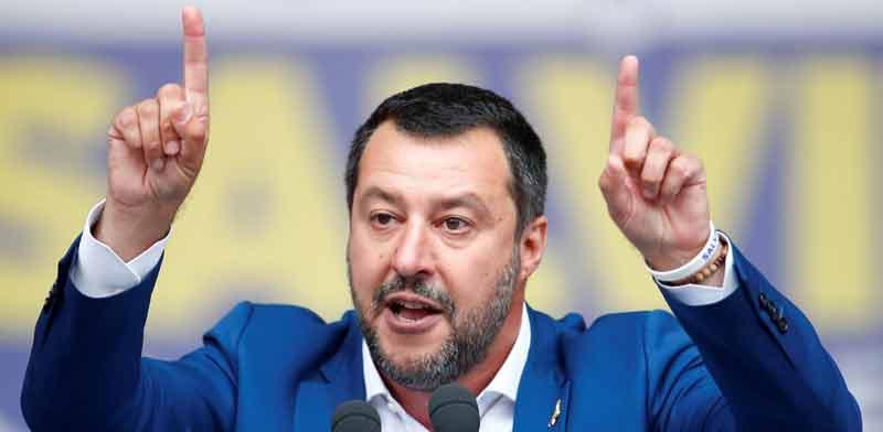 מתאו סלביני, סגן ראש ממשלת איטליה / צילום: רויטרס, Alessandro Garofalo