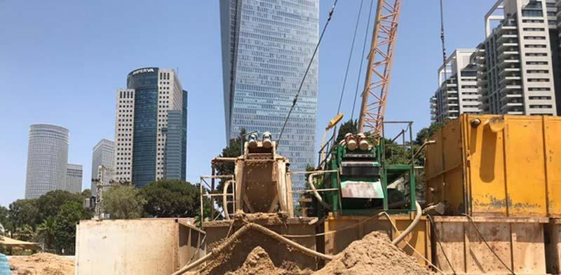 אתר הבנייה של פרויקט בסר /  צילום: יניר אלמליח