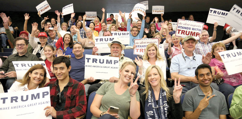 אסיפת בחירות של טראמפ./ צילום:  Shutterstock א.ס.א.פ קריאייטיב