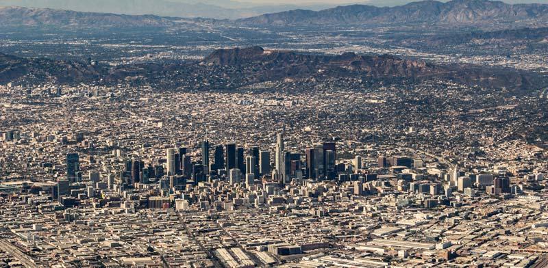 לוס אנג'לס במבט אווירי / צילום: Shutterstock, א.ס.א.פ קריאייטיב