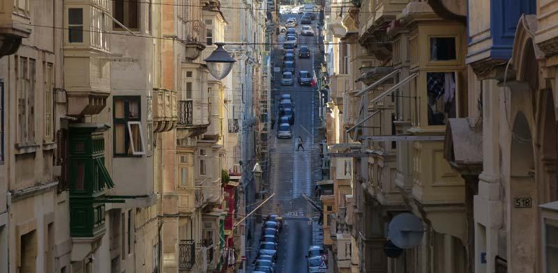 רחוב בוואלטה, בירת מלטה./ צילום: /Shutterstock א.ס.א.פ קריאייטיב