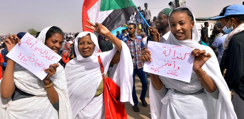 מפגינות בחרטום, בירת סודאן / צילום: רויטרס