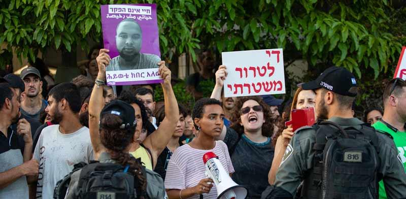 הפגנה לאחר מותו של סלומון טקה / צילום: כדיה לוי