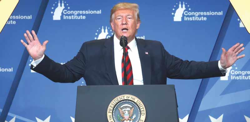 """נשיא ארה""""ב דונלד טראמפ / צילום: רויטרס"""