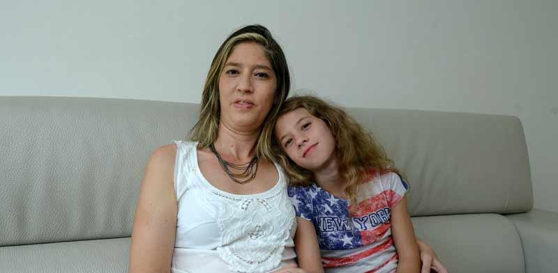 פרופ' שירלי ורנר עם בתה עומר. / צילום: איל יצהר