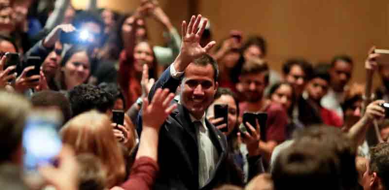 מנהיג האופוזיציה בוונצואלה, חואן גוואיידו./ צילום: רויטרס, Ueslei Marcelino