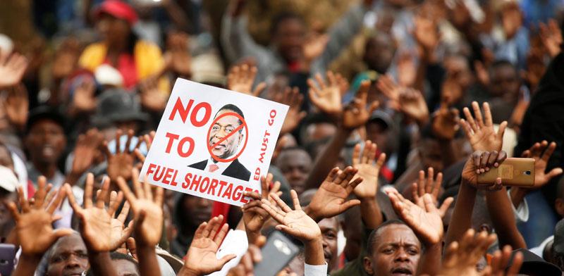 הפגנות בזימבבואה נגד המצוקה הכלכלית/ צילום: רויטרס, Philimon Bulawayo