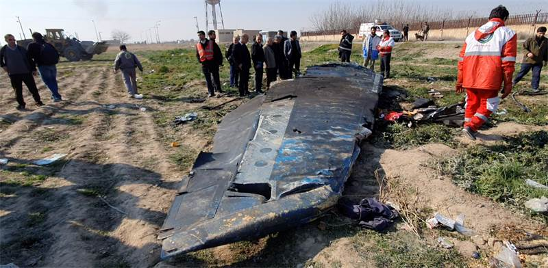 המטוס האוקראיני שהתרסק באיראן / צילום: רויטרס
