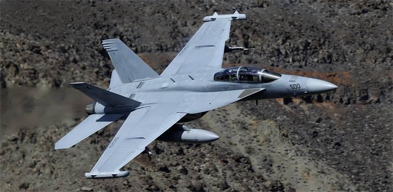 """מטוס קרב מסוג EA-18G """"גראולר"""" / צילום: Ben Margot, AP"""