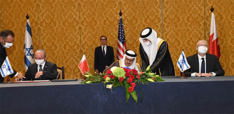 Signing of joint declaration of Israel and Bahrain / Photo: Haim Tzach GPO , GPO